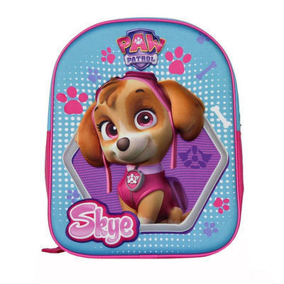 Paw Patrol Girls Backpack Skye Dog 3D Schoolbag Adjustable
