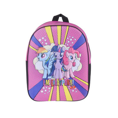 Girls My Little Pony Backpack Kids School Bag Zip Fastening