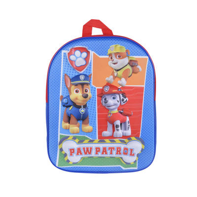 Boys Paw Patrol Backpack Kids School Bag Zip Fastening Print
