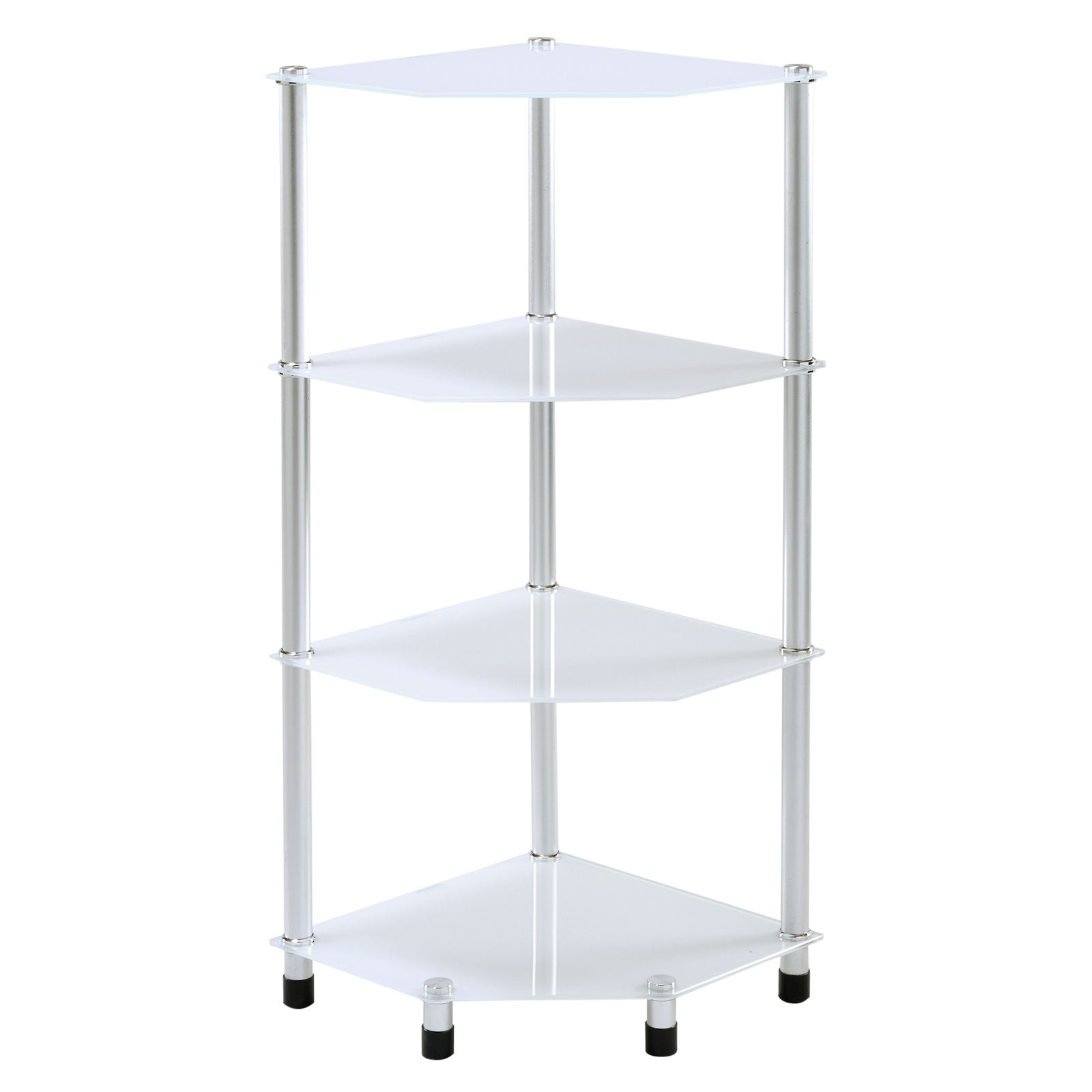 corner storage shelves glass corner shelf shelving unit display lamp end 14015