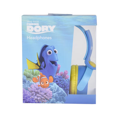 Disney Pixar Finding Dory Kids Headphones DJ Style Blue Yellow