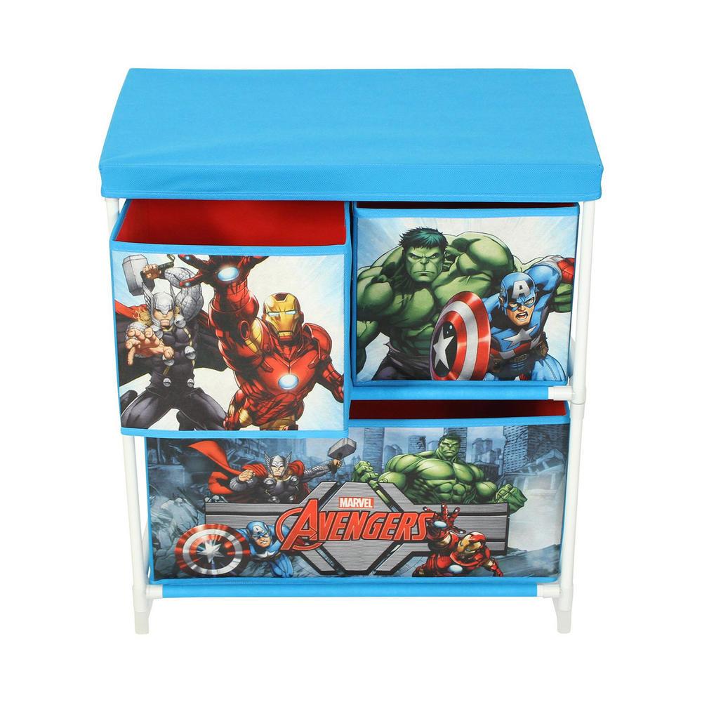 Kids Storage Cube Organizer Toy Box Kids Bedroom Furniture: Marvel Avengers Kids Storage Box 3 Drawers Bedroom Furniture