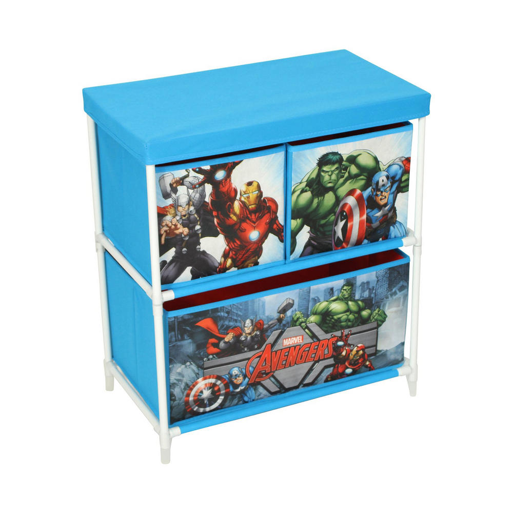 Marvel avengers kids storage box 3 drawers bedroom furniture - Avengers bedroom ...