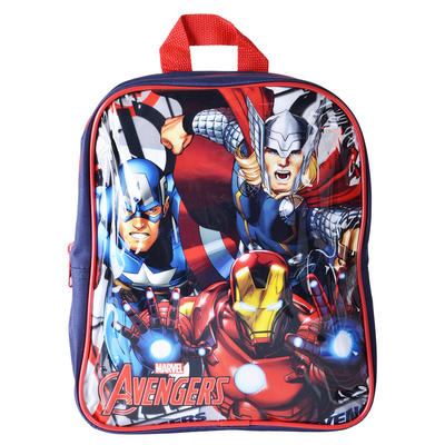 Kids Marvel Avengers Character Backpack Black School Bag Boys Iron Man