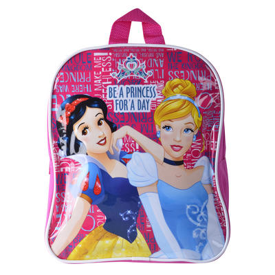 Disney Princess Character Backpack Pink Cinderella Snow White Girls