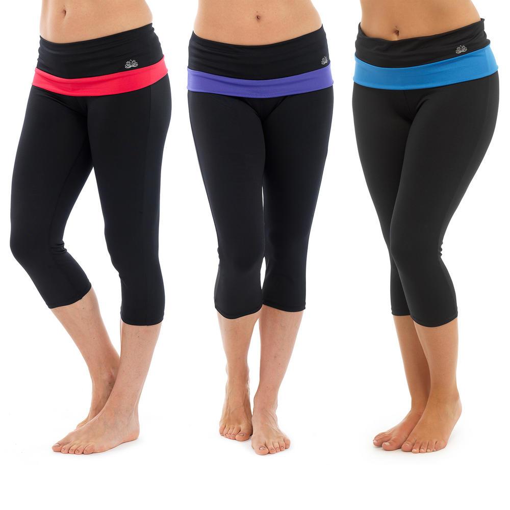 Ladies 3/4 Length Yoga Pants Fitness Sports Running