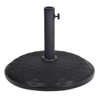 25kg Black Concrete Garden Parasol Base Round Umbrella Stand