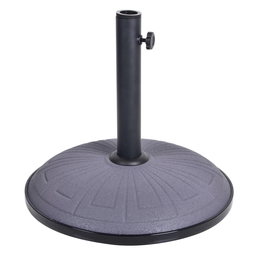 15kg grey concrete garden parasol base round umbrella stand. Black Bedroom Furniture Sets. Home Design Ideas