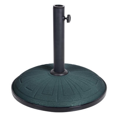 15kg Green Concrete Garden Parasol Base Round Umbrella Stand