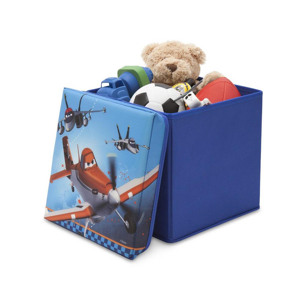Disney Collapsible Storage Trunk Toy Box Organizer Chest: Disney Planes Storage Box Kids Seat Stool Lid Folding
