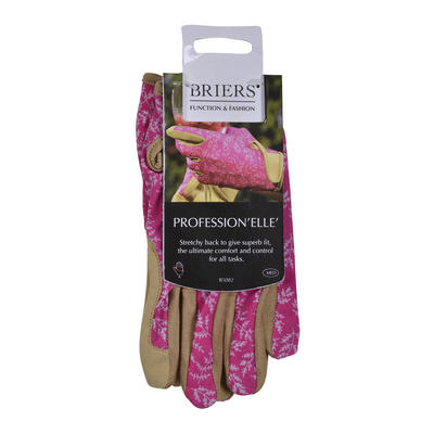 Briers Stretchy Gardening Gloves Fern Microfibre Pruning