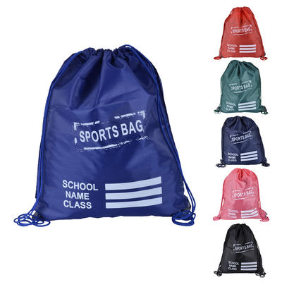 Drawstring School Gym Bag Backpack PE Sport Dance Swimming