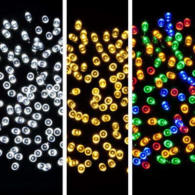 8 Function LED Christmas Light String USB Power Flashing White Multi
