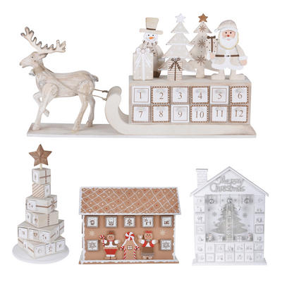 Wooden Christmas Advent Calendar 24 Drawers Xmas Decoration