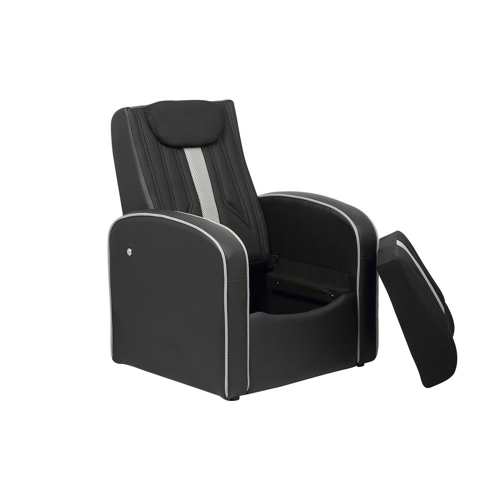 Kids storage armchair room furniture padded faux leather for Kids chair leather