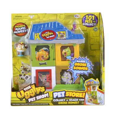 Ugglys Pet Shop Store Playset Kids Toy Gross Figures Sounds
