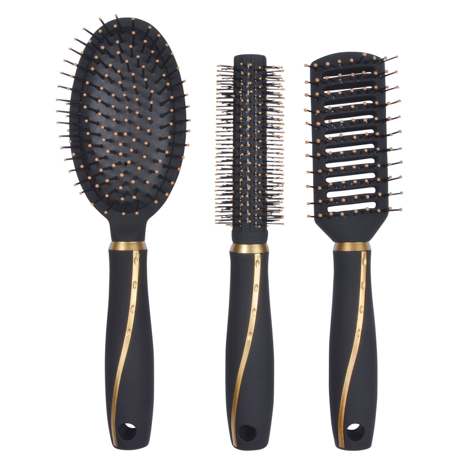best styling brush for hair 3pc professional hair brush set salon high quality curling 8254