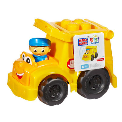 Mega Bloks First Builders Sonny The Schoolbus 6pc Toy Age 1-5