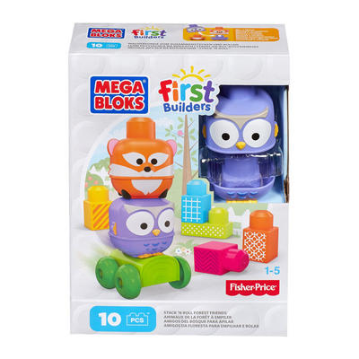 Mega Bloks First Builders Stack 'N Roll Forest Friends Toy