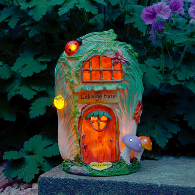 Solar Powered Cabbage Hotel LED Garden Ornament Patio Outdoor Decoration Light