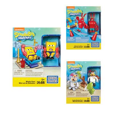 Mega Bloks Spongebob Squarepants Wacky Building Kit Toy 5+