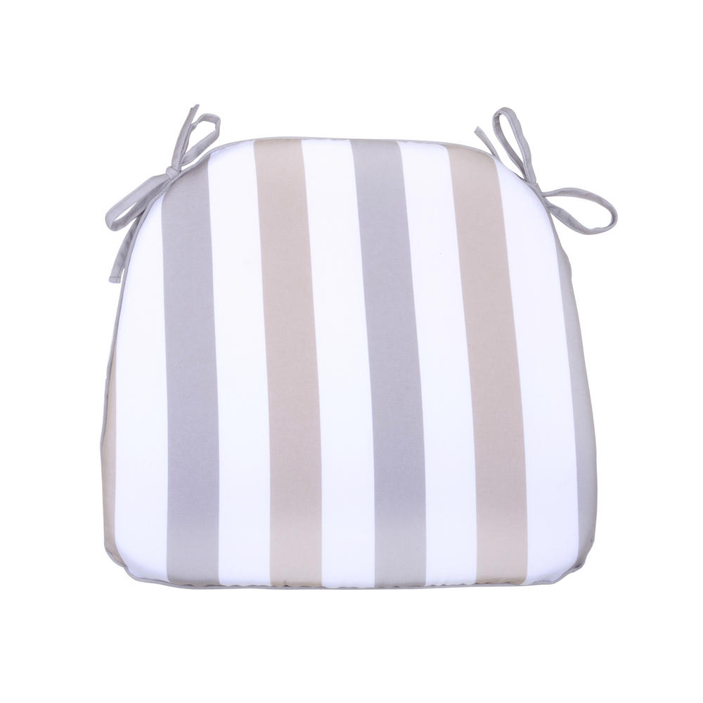 Stripe Memory Foam Chair Pad With Ties Garden Seat Cushion