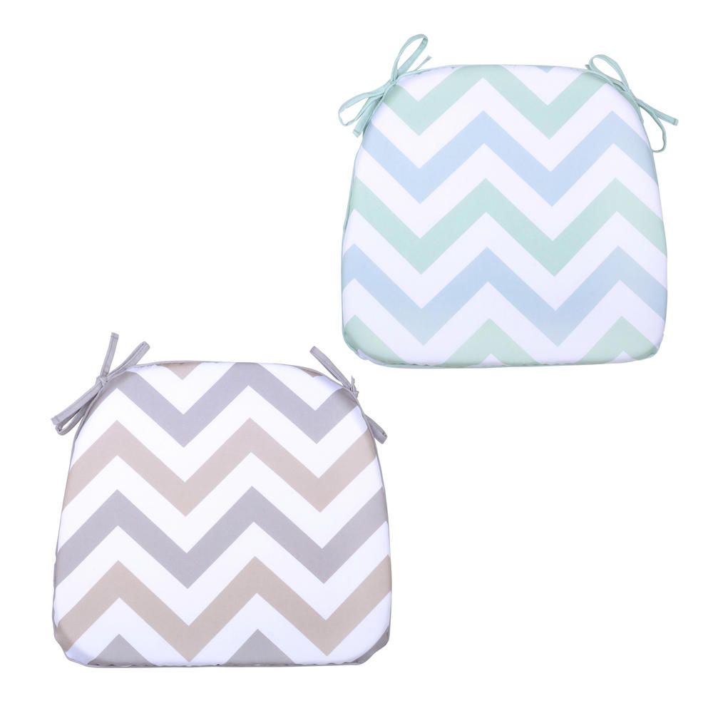 Chair bags for school pattern - Chevron Memory Foam Chair Pad With Ties Garden Seat Cushion Preview