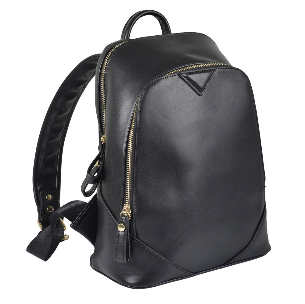 Ladies Montana Black PU Leather Backpack Handbag Rucksack Women Girl Preview