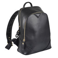Ladies Montana Black PU Leather Backpack Handbag Rucksack Women Girl Thumbnail 1