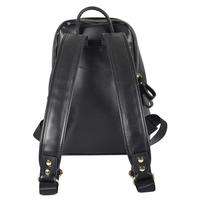 Ladies Montana Black PU Leather Backpack Handbag Rucksack Women Girl Thumbnail 3