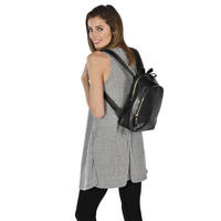 Ladies Montana Black PU Leather Backpack Handbag Rucksack Women Girl Thumbnail 4
