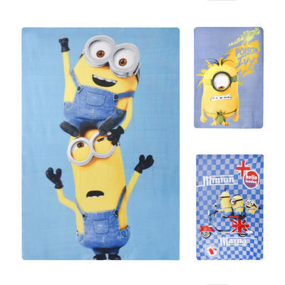 Kids Minion Blanket Cosy Throw Despicable Me Character Fleece