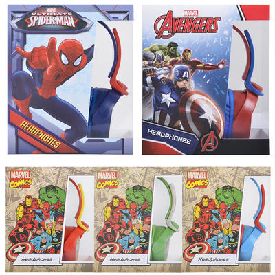 Marvel Comics Headphones Avengers Spiderman Adjustable Headband