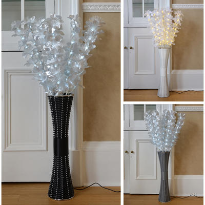 Floor Standing Fibre Optic Lamp Flowers Indoor Lighting 1m Tall