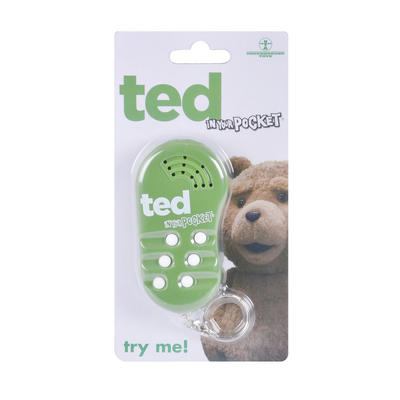 Ted In Your Pocket Explicit Talking Keychain Sounds Phrases