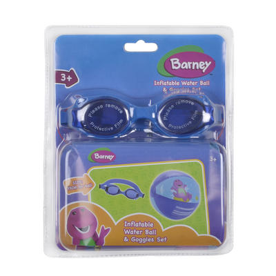 Barney Swimming Accessories Inflatable Water Beach Ball Goggles