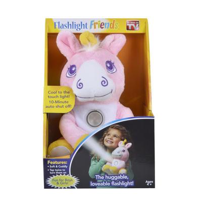 Flashlight Friends Stuffed Kids Bed Toy Cuddly Pink Unicorn