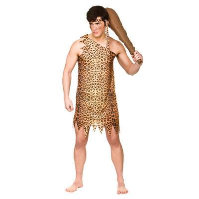 Mens Caveman Prehistoric Halloween Fancy Dress Costume