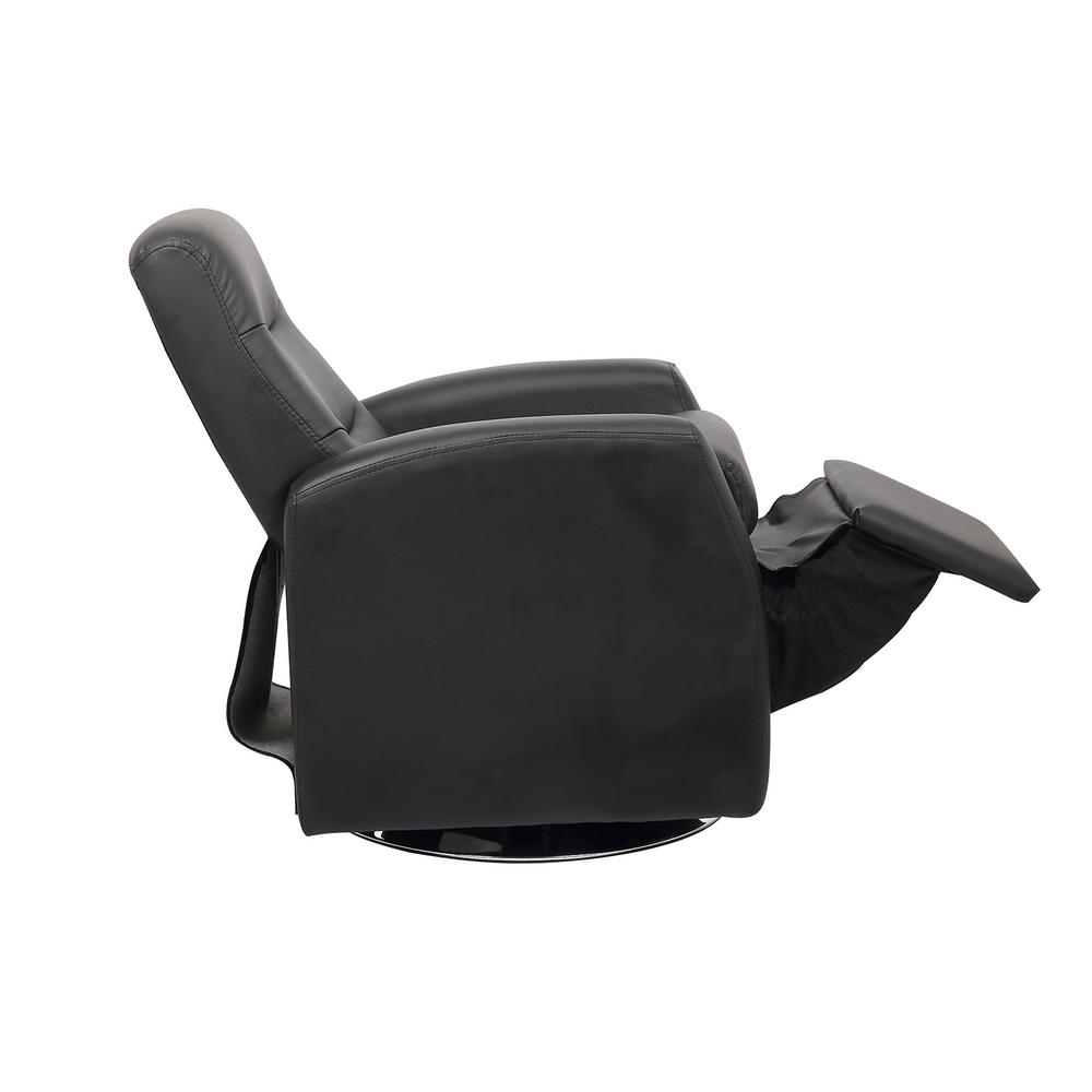 Kids reclining swivel chair furniture comfy faux leather for Toddler leather chair
