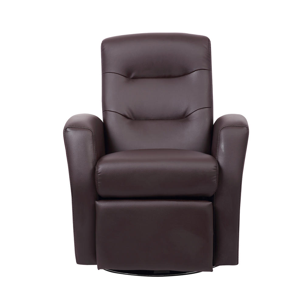 Kids reclining swivel chair furniture comfy faux leather for Kids recliner chair