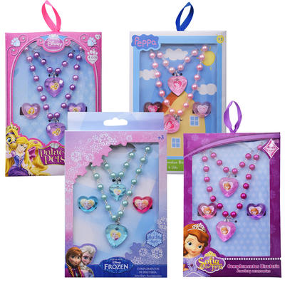 Girls Jewellery 4 Piece Sets Palace Pets Frozen Peppa Pig Bracelet