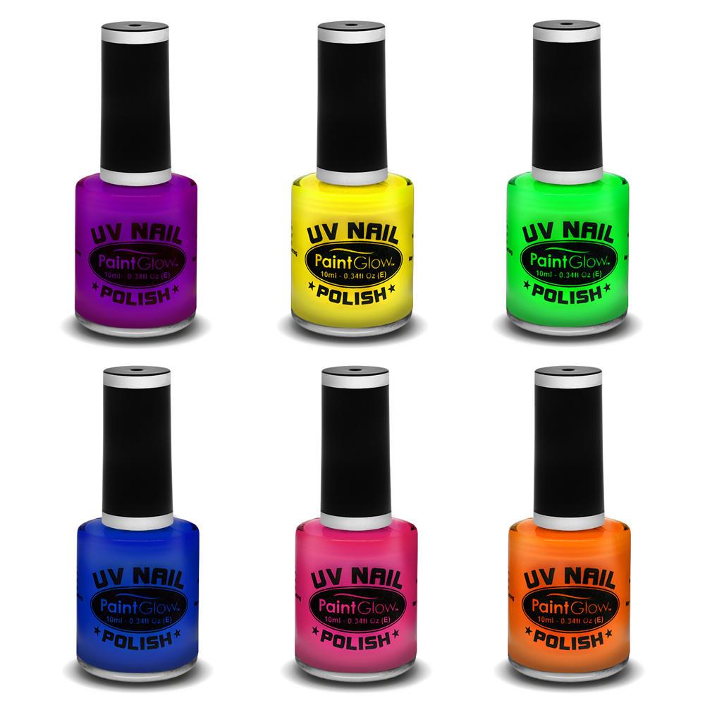 Neon Nail Polish Uk: 10ml UV Glow Neon Nail Polish Varnish Halloween Fancy