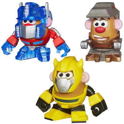 Mr Potato Head Transformers Mix Mash Bumblebee Grimlock /Optimus Prime