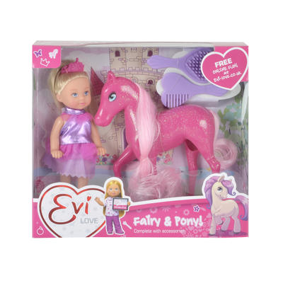 Evi Love Fairy Pony Playset Sparkly Girls Doll Toy Assortment