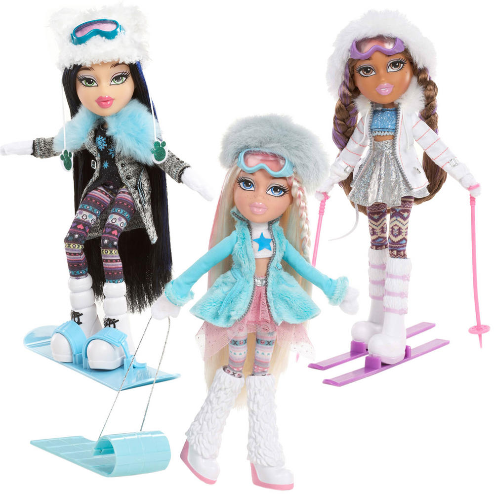 snowkissed bratz doll cloe jade yasmin sledge skis