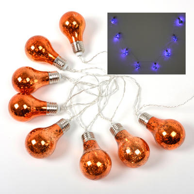 8 Bulb Shaped Static Lights String Bright LEDs Halloween Party