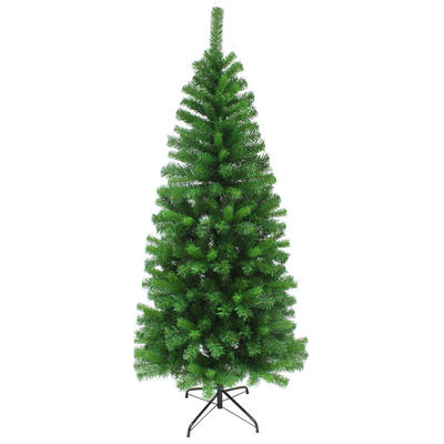 Slim Artificial Pine Christmas Tree Traditional Indoor 4ft 5ft 6ft