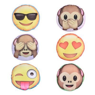 14cm Small Round Emoji Emoticon Cushions Kids Soft Toys Novelty