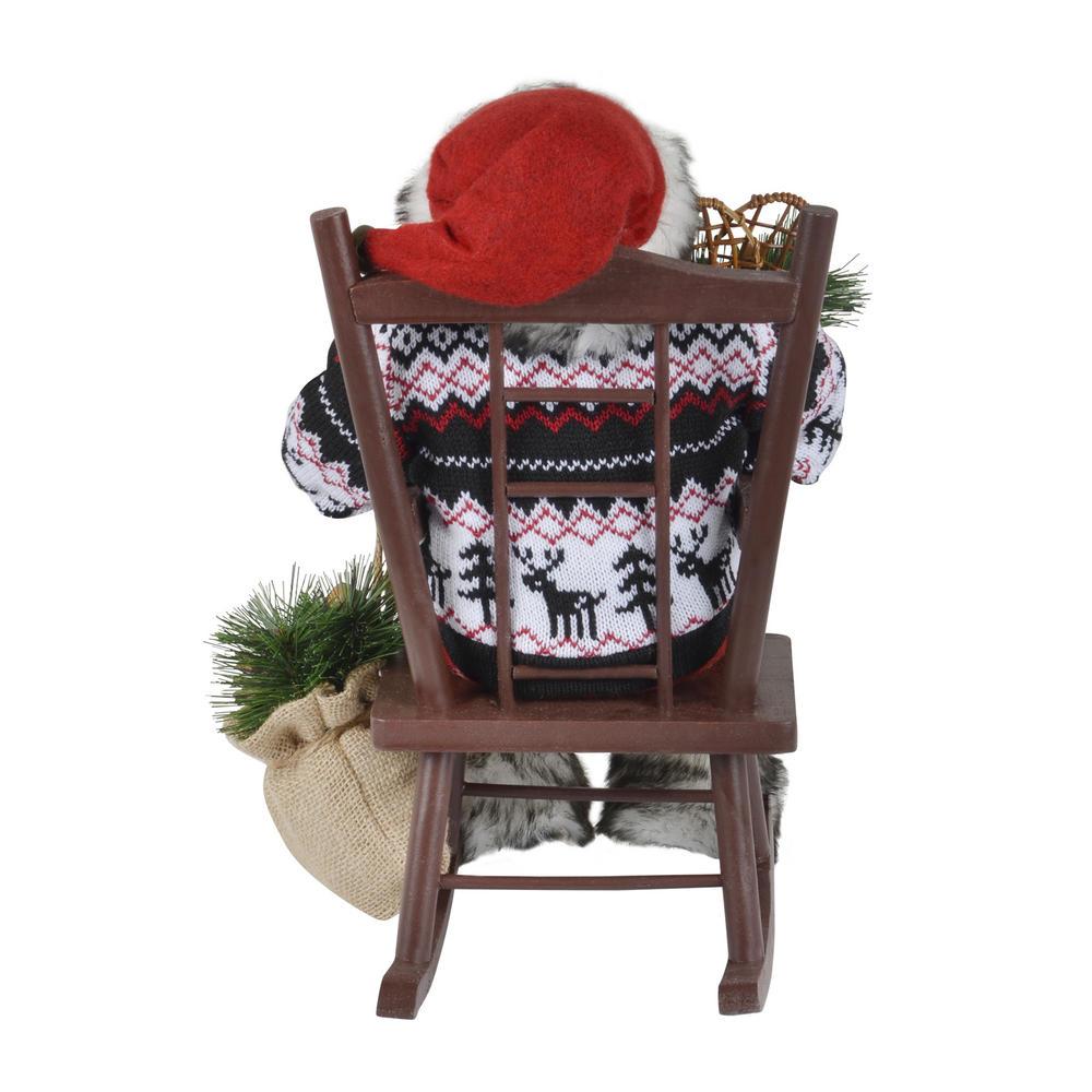 40cm Santa Sitting On A Rocking Chair Christmas Room