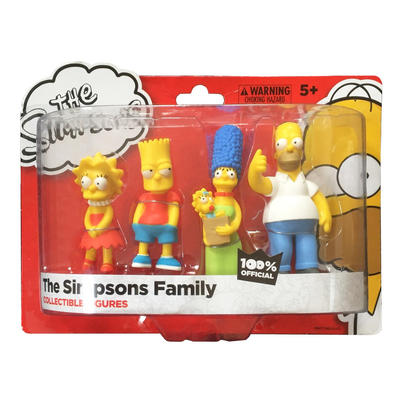 Simpsons Family Figure Pack Homer Marge Bart Lisa Collectible Play